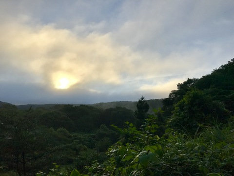 那須高原の朝日